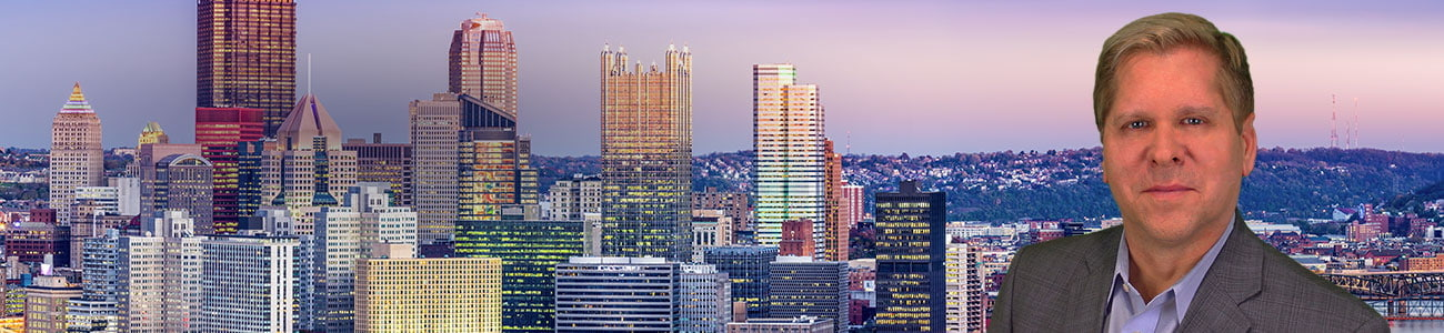 Pittsburgh, Pennsylvania skyline at dusk